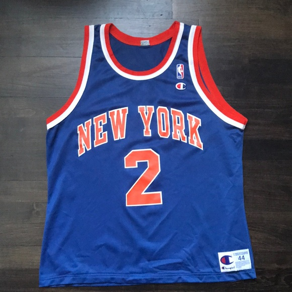 the latest cb41f e25e1 Vintage Knicks Larry Johnson jersey